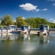 Stock Photo: Canal lock/Floodgate/Ship lock on a river