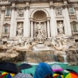 Fontandi Trevi - famous Trevi fountain in Rome, Italy — Stock Photo #12427606