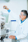 Senior male researcher in a lab — Stock Photo