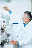 Senior male researcher in a lab — Stock Photo