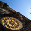 Famous Prague monuments: astronomical clock — 图库照片