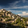 View of Gordes - one of the most beautiful villages in France - Stock Photo