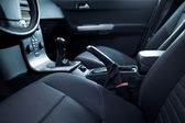Modern car interior (color toned image) — Stock Photo