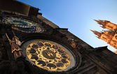 Famous Prague monuments: astronomical clock — Stock Photo