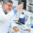 Senior male researcher carrying out scientific research in a lab — Stock Photo #18534993
