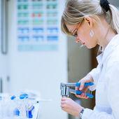 Female researcher — Stock Photo