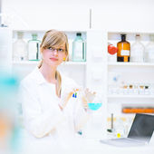 Retrato de um pesquisador feminino — Foto Stock