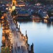 View of Vltava river with Charles bridge in Prague, Czech republic - Photo