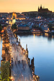 View of Vltava river with Charles bridge in Prague, Czech republic — Stock Photo