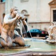 Northward view of the Piazza Navona with the fontana del Moro - Stock Photo