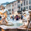 Northward view of the Piazza Navona with the fontana del Moro — Stock Photo #20389613