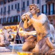 Northward view of the Piazza Navona with the fontana del Moro — Stock Photo