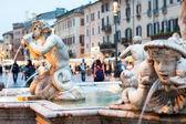 Northward view of the Piazza Navona with the fontana del Moro — Fotografia Stock