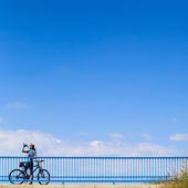 Background for poster or advertisment pertaining to cycling — Stock Photo