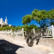 View of Notre-Dame de la Garde basilica in Marseille, southern F - Stock Photo