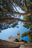 View of Notre-Dame de la Garde basilica in Marseille, southern F — Stock Photo