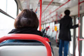 Public transport series - taking a tram commute to work — Stock Photo