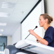 Business woman giving a presentation — Stock Photo #40427903
