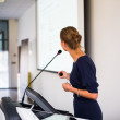 Business woman giving a presentation — Stock Photo #40428609