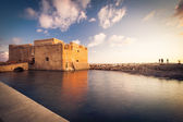 Late afternoon view of the Paphos Castle (Paphos, Cyprus) — Stock Photo
