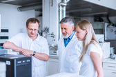Team of researchers  in a lab — Stock Photo
