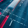 Motion blurred city road traffic — Stockfoto