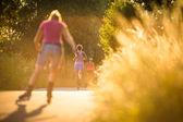 Woman running outdoors — Stock Photo