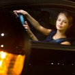 Woman Driving a car — Stock Photo #46492045