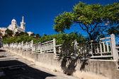 Notre-Dame de la Garde basilica in Marseille — Stock Photo
