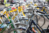 Bike rental service  in a city — Stock Photo