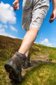 Young man hiking — Stock Photo