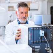 Senior male researcher — Stock Photo
