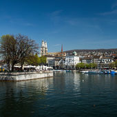 Zurich and river Limmat, Switzerland — Stock Photo