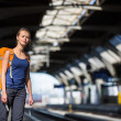 Woman in a train station — Stock Photo #50022081