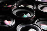 Modern camera lenses — Stock Photo
