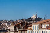 View of Marseille with Notre-Dame de la Garde — Stock Photo