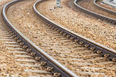 Railway for train — Stock Photo
