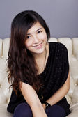 Asian woman smile with beautiful face — Stock Photo
