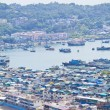 Cheung Chau island view from hilltop, Hong Kong. - Stock Photo