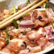 Stock Photo: Raw meat with sauce in Chinese style