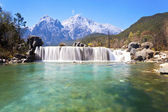Blue Moon Valley landscape in mountains of Lijiang, China. — Stock Photo