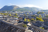 Lijiang oude stad in de ochtend in china — Stockfoto