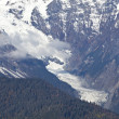 Glacier in snowy mountains — Stockfoto