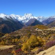 Haba snow mountain landscape in China at autumn — Stock Photo