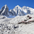 Jade Dragon Snow Mountain in Lijiang, Yunnan, China - Stock Photo