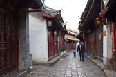 Lijiang old town, the UNESCO world heritage in Yunnan province, — Stock Photo
