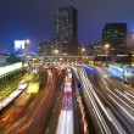 Traffic jam at night in Hong Kong — Stock Photo #16263069