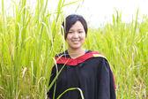 亚洲女子毕业 — 图库照片