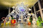 Riesenrad an weihnachten in hongkong — Stockfoto