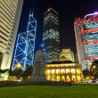 Hong Kong buildings at night — Stock Photo #18135235